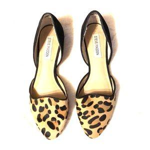 Steve Madden Leopard Orsay Flats - Size 8